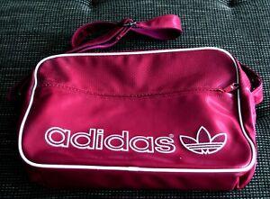 Adidas Umhängetasche Airliner Bag Vintage Pink Rosa Beere Lila Retro Sporttasche