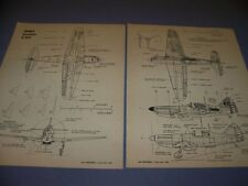 VINTAGE..D.520 & I-16 & AR.196 A-3.. 4/5-VIEWS/CROSS SECTIONS..RARE...(111A)