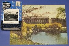 "VINTAGE PERFECT PICTURE JIGSAW PUZZLE ""SPRINGTIME"" BRIDGE LAKE POND WAR BOND CIB"