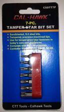 7 PIECE TAMPER PROOF STAR BIT SET TEMPERED S-2 STEEL BITS SD-10 SD-15 SD-20 TORX