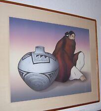 "RC Gorman Navajo ""ANASAZI JAR"" Signed Limited Edition Lithograph ART 46/200 VTG"