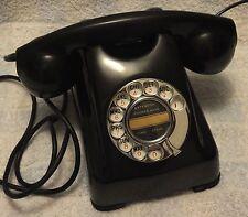 L@@K - RARE - Kellogg D1000HC1 Red Bar black Bakelite Rotary Dial Desk Telephone