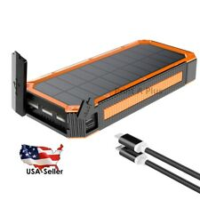 Powerful Portable Solar Charger Power Bank Real 30,000mAh Capacity 2A 3A Output