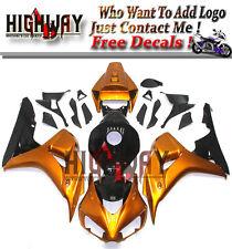 Fairings For Honda CBR1000RR 06 07 2006 ABS Fairing Kit Bodywork Gold & Black