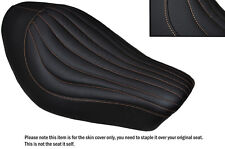 TAN STITCH LINE DESIGN CUSTOM FITS HARLEY SPORTSTER IRON 883 SOLO SEAT COVER