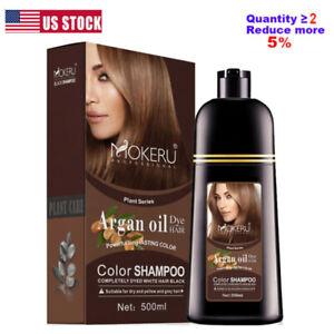 Mokeru 500ml Natural Organic Coconut Oil Essence Hair Color Shampoo Hair Dye