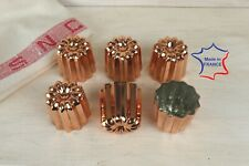 6 Copper canele molds Large 2.1 inches 6 Copper Cannele made in France