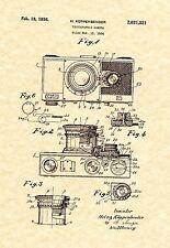 Patent Print - Camera 1936 H. Kuppenbender Art Print - Ready To Be Framed!