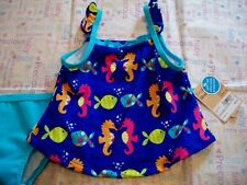 CARTER'S BABY GIRLS BATHING SUIT 12 MONTHS BLUE FISH