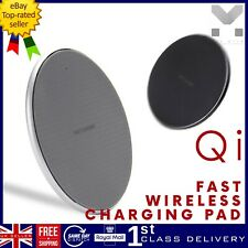 UK Qi Wireless Charger Mat Fast Charging Dock Pad For iPhone 8 X XS Samsung S20