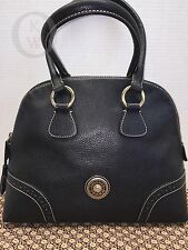 *Vintage*~Dooney & Bourke*French Leather BLACK*DOME*Purse*#16254F