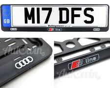 Audi S LINE A4 A6 A5 DUE CORNICE TARGA ANTERIORE