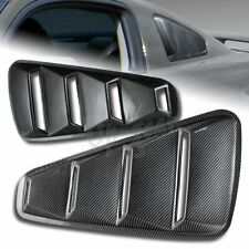 For 2005 2014 Ford Mustang 14 Quarter Carbon Style Window Louvers Scoop Cover Fits Mustang