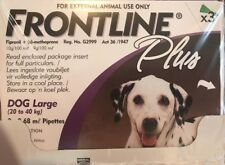 Frontline Plus For Large Dogs 45-88 lbs (20-40kg) ~ 3 Month Supply, New In Box