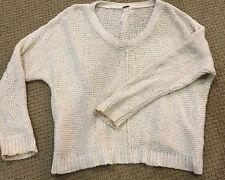 Free People Oatmeal Cream Sweater! Chunky Knit, Soft! XS EUC