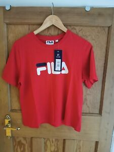 Women's Red Fila Crop Top Size 10/Small BNWT