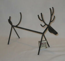Moose Wine Bottle Holder Woodland River Wild Animals Deer Elk Reindeer Steel New