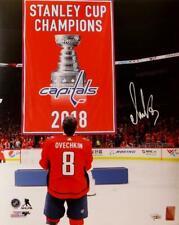 Alexander Ovechkin Signed Capitals 16x20 w/ Banner PF Photo - Fanatics Auth