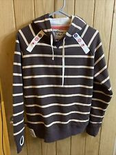 Womens colours by Alice hoodie size 12 with two pockets dark and light brown