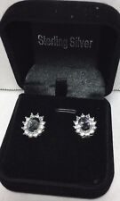 Brand New QVC Sterling Silver Mystic topaz Gemstone earrings gift boxed