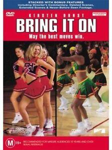 BRING IT ON DVD Kirsten Dunst Movie - Legit RARE OOP / Cheerleading ! AUST REG 4