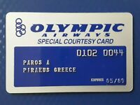 OLYMPIC AIRWAYS SPECIAL COURTESY CARD 1989 RARE !!!