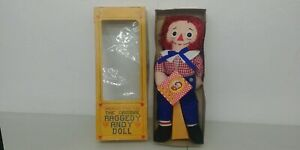 Vintage 1971 Knickbocker Original Raggedy Andy Doll Mint New In Box With Tag K4