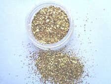 3g POT NSI  PRE-MIXED GLITTER ACRYLIC POWDER -GOLD  MULTI SIZE  naill art mix