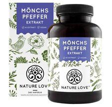 NATURE LOVE® Mönchspfeffer Kapseln - Premium: Mönchspfeffer 4:1 Extrakt aus Orig