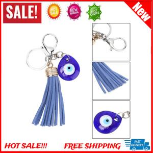 Lucky Blue Glass Evil Eye Keychain Key Ring Amulet Pendant Blessing Lucky