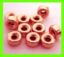 10x 6mm roundel donut 14k ROSE gold filled seamless bead spacer plain shiny RB36