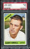 1966 Topps Baseball #548 GARY KNOLL Houston Astros Short Print SP PSA 7 NM