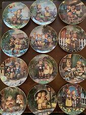 """Lot of 12 M.J. Hummel Goebel Little Companions Danbury Mint Collectors Plates 8"""""""