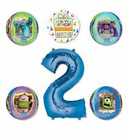 Monsters University Party Supplies 2nd Birthday Balloon Bouquet Decorations -...