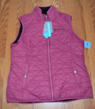 NWT Womens FREE COUNTRY Rose Mahogany Reversible Quilted Pile Vest Jacket Sz S