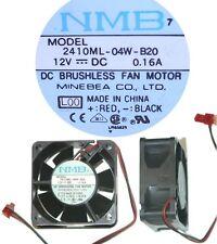 Ball Bearing 60mm*25mm NMB/Minebea 2410ML-04W-B20 12VDC/6/8/9/12V 6025 Fan 2pin