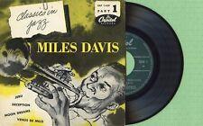 MILES DAVIS / Jeru, Deception, Dreams CAPITOL EAP 1-459 Pres France 1954 EP EX
