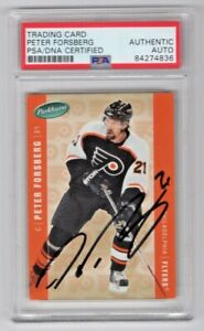 2005 Parkhurst Peter Forsberg Philadelphia Flyers Signed Auto Card #352 PSA/DNA