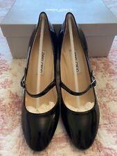 JIMMY CHOO Black Patent Leather High Heel Mary Jane Shoes, BNIB 39