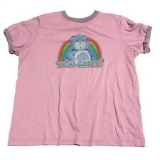 Junk Food Brand Care Bears Who Cares Graphic T-Shirt Women's Size 0
