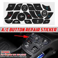 Color : Black Ruiziliang 1x Button Repair Sticker Car Air Condition Switch AC Climate Control Button Repair Decals Stickers for Porsche Boxster 987 911