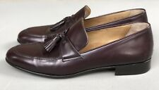 Cole Haan City Loafer Pinch Tassel Burgundy Leather Slip-On Shoes Mens Size 11 B