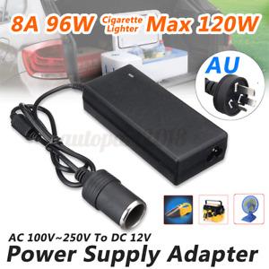 96W 100- 250V AC to 12V DC 8A Power Supply Adapter Cigarette Socket Car Home Q