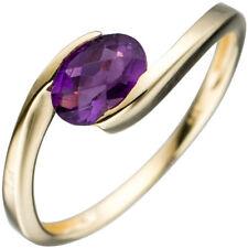 JOBO Damen Ring 54mm 333 Gold Gelbgold 1 Amethyst lila violett Goldring