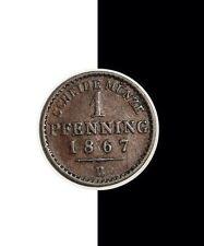 1867 B 1 Pfenning Germany