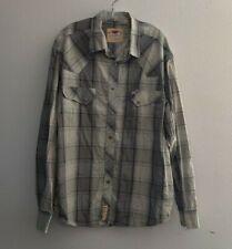 LARRY MAHAN 3XL Pearl Snap Long Sleeve Cowboy Western 100% Cotton