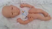 """Kit Muñeca Reborn Bebé """"Anna"""" cuerpo completo de las extremidades sin ojos y Azul Maniquí Incluido"""