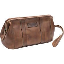 Prime Hide Ridgeback Brown Leather Stylish DESIGNER Toiletry Travel Washbag e5214c9fcaf3e