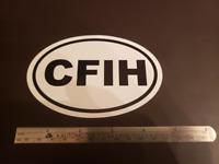 CFIH Oval Sticker Helicopter Instructor Bell Robinson Schweizer R22 R44 R66