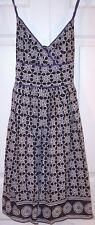 NWT Fire Los Angeles 100% Cotton Navy Print Sun Dress, Juniors S, $39.99